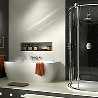 Splashwall Moon dust 3 sided shower panelling kit (L)2420mm (W)1200mm (T)11mm