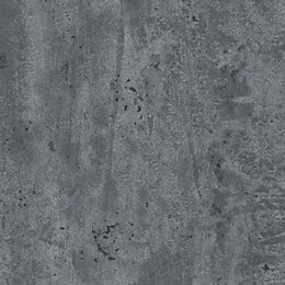 Splashwall Grey Stone Single Shower Panel (L)2.42m (W)1.2m