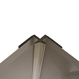 Splashwall Hessian Shower Panelling Internal Corner (L)2440mm