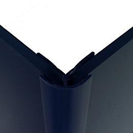 Splashwall Royal Blue Shower Panelling External Corner (L)2440mm