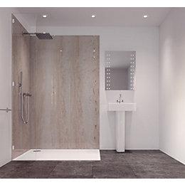Splashwall Natural Turin Marble Effect Single Shower Panel