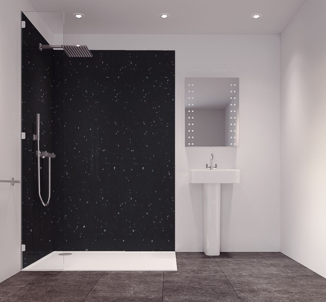 Splashwall Moon Dust Single Shower Panel (L)2420mm (W)585mm