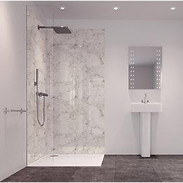 Splashwall Tuscan White 2 Sided Shower Panelling Kit