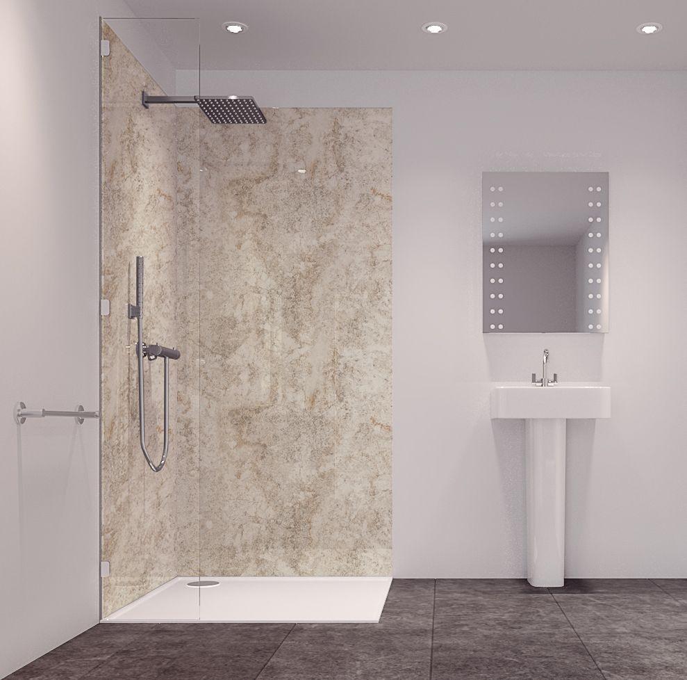 Splashwall Tuscan Grey 2 Sided Shower Panelling Kit