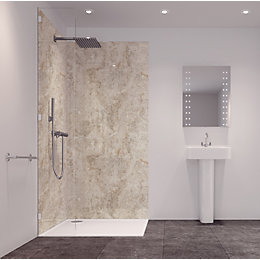 Splashwall Tuscan Grey 2 Sided Shower Panelling Kit