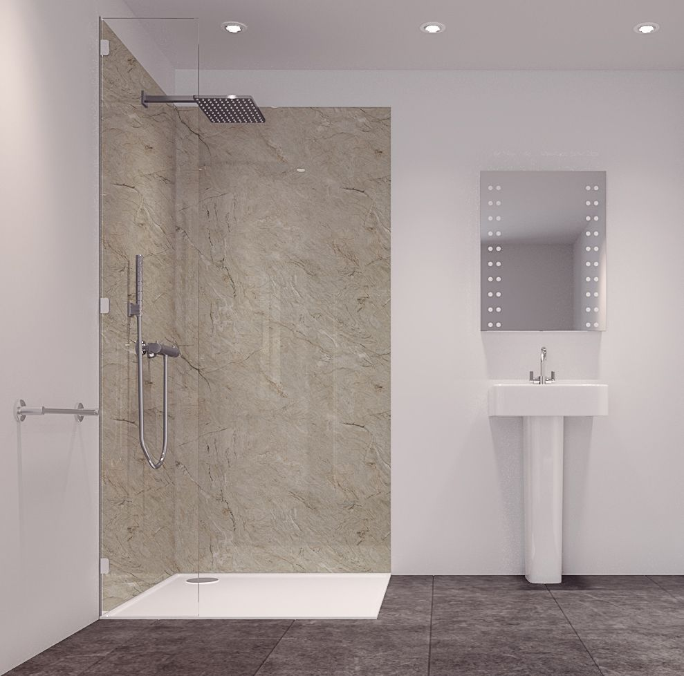 Splashwall Tuscan Natural 2 Sided Shower Panelling Kit