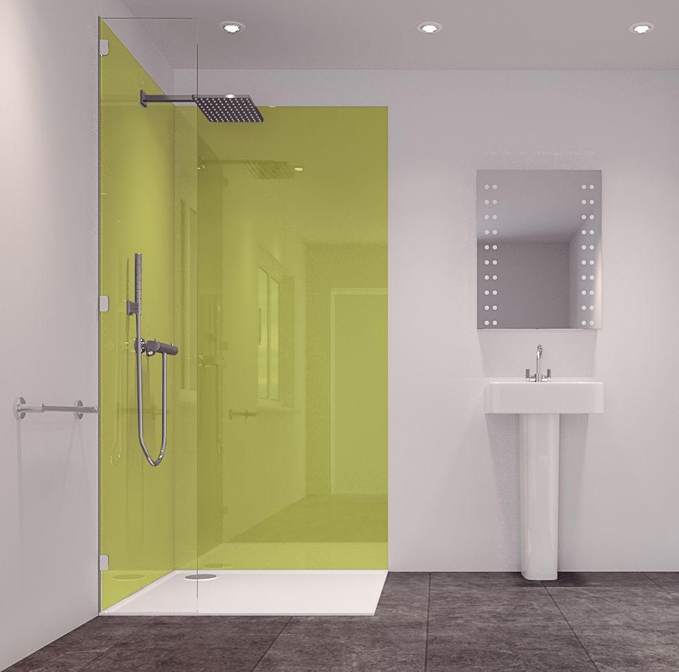 Splashwall Lime 2 Sided Shower Panelling Kit (L)2420mm