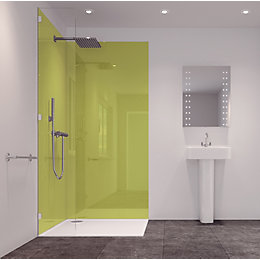 Splashwall Lime 2 Sided Shower Panelling Kit (L)2420mm
