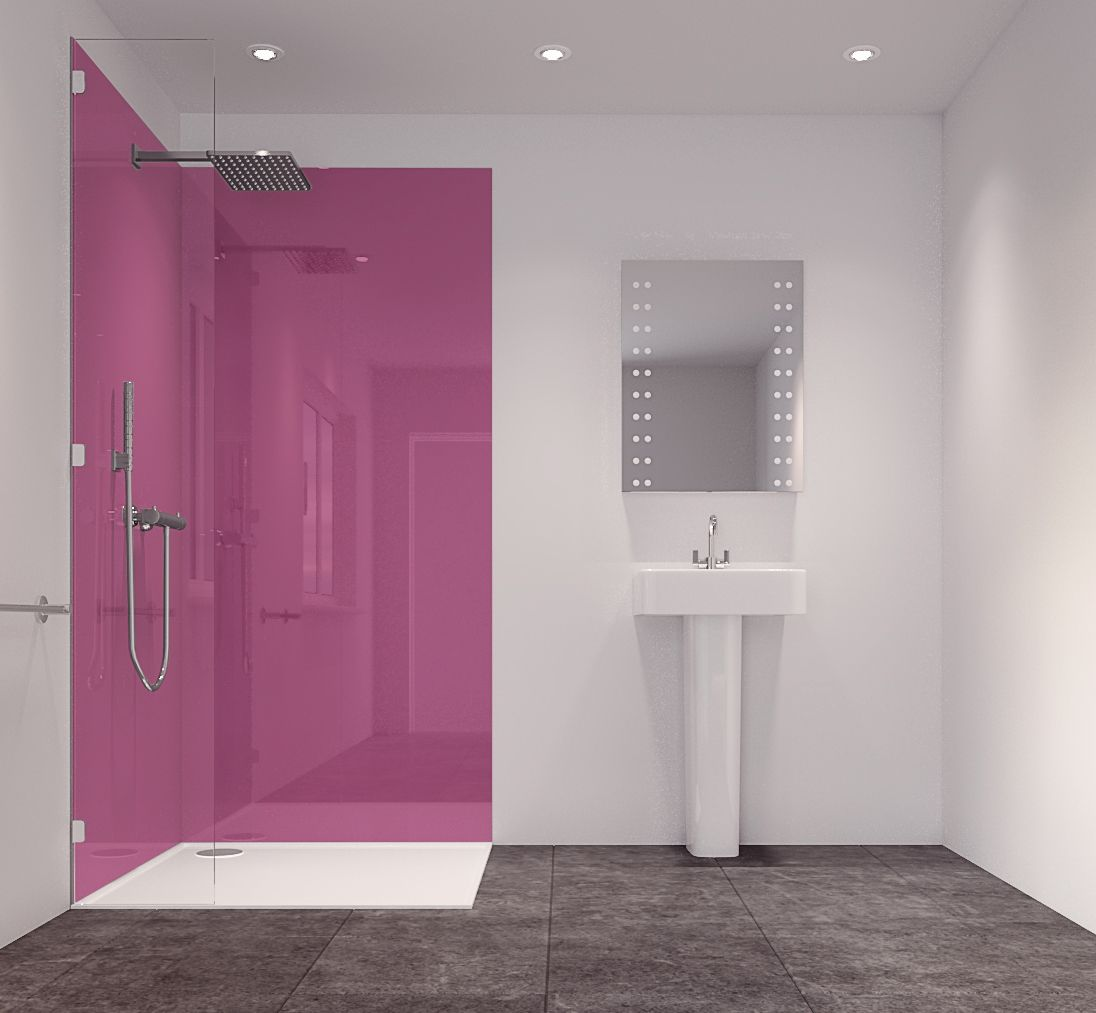 Splashwall Pink 2 Sided Shower Panelling Kit (L)2420mm