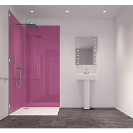Splashwall Pink 2 Sided Shower Panelling Kit (L)2420mm