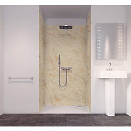 Splashwall Tuscan Cream 3 Sided Shower Panelling Kit