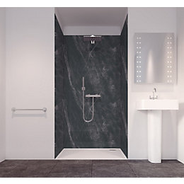 Splashwall Tuscan Black 3 Sided Shower Panelling Kit