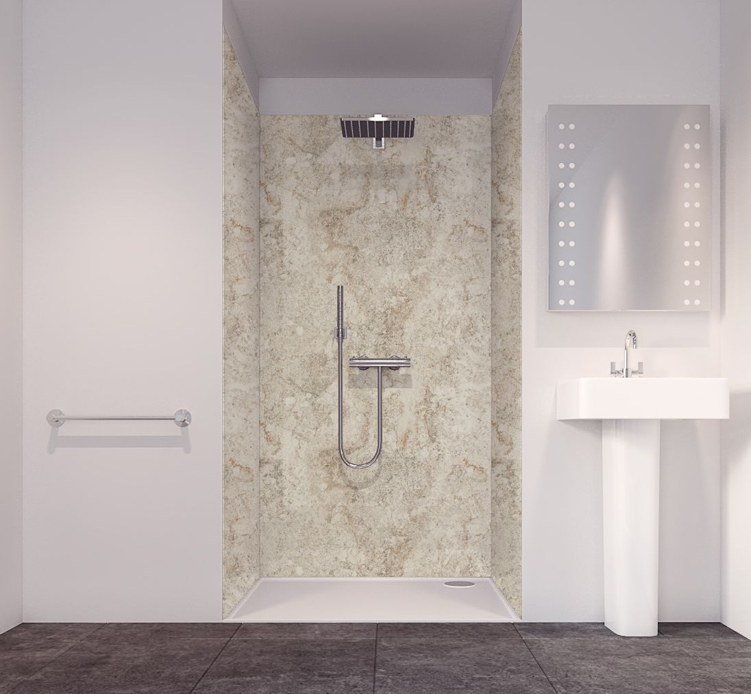 Splashwall Tuscan Grey 3 Sided Shower Panelling Kit