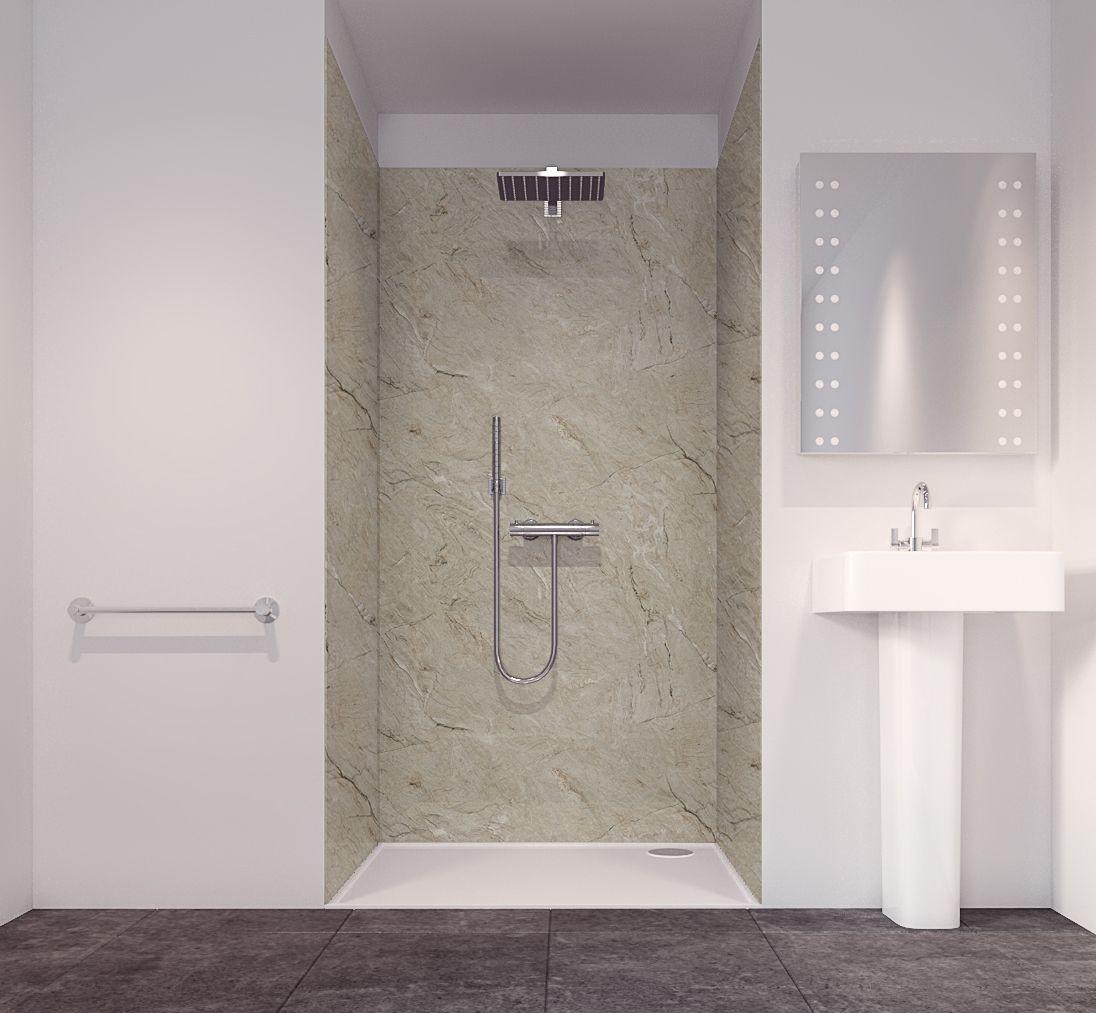 Splashwall Tuscan Natural 3 Sided Shower Panelling Kit