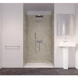 Splashwall Tuscan Natural 3 Sided Shower Panelling Kit