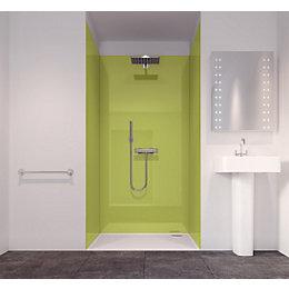 Splashwall Lime 3 Sided Shower Panelling Kit (L)2420mm
