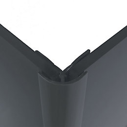 Splashwall Flint Shower Panelling External Corner (L)2440mm