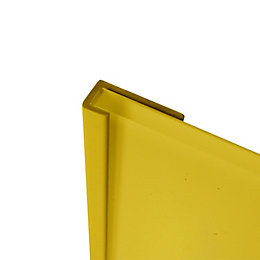 Splashwall Lemon Shower Panelling End Cap (L)2440mm (T)4mm