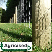 Forest Garden Timber Fence post (H)1.65m (W)85 mm, Pack of 25