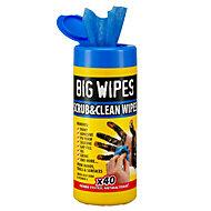 Big Wipes Scrub & clean Wipes, pack of 40