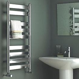 Kudox Linear Silver Towel Warmer (H)950mm (W)500mm