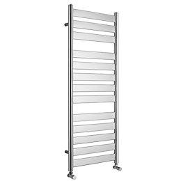 Kudox Linear Silver Towel Warmer (H)1300mm (W)500mm