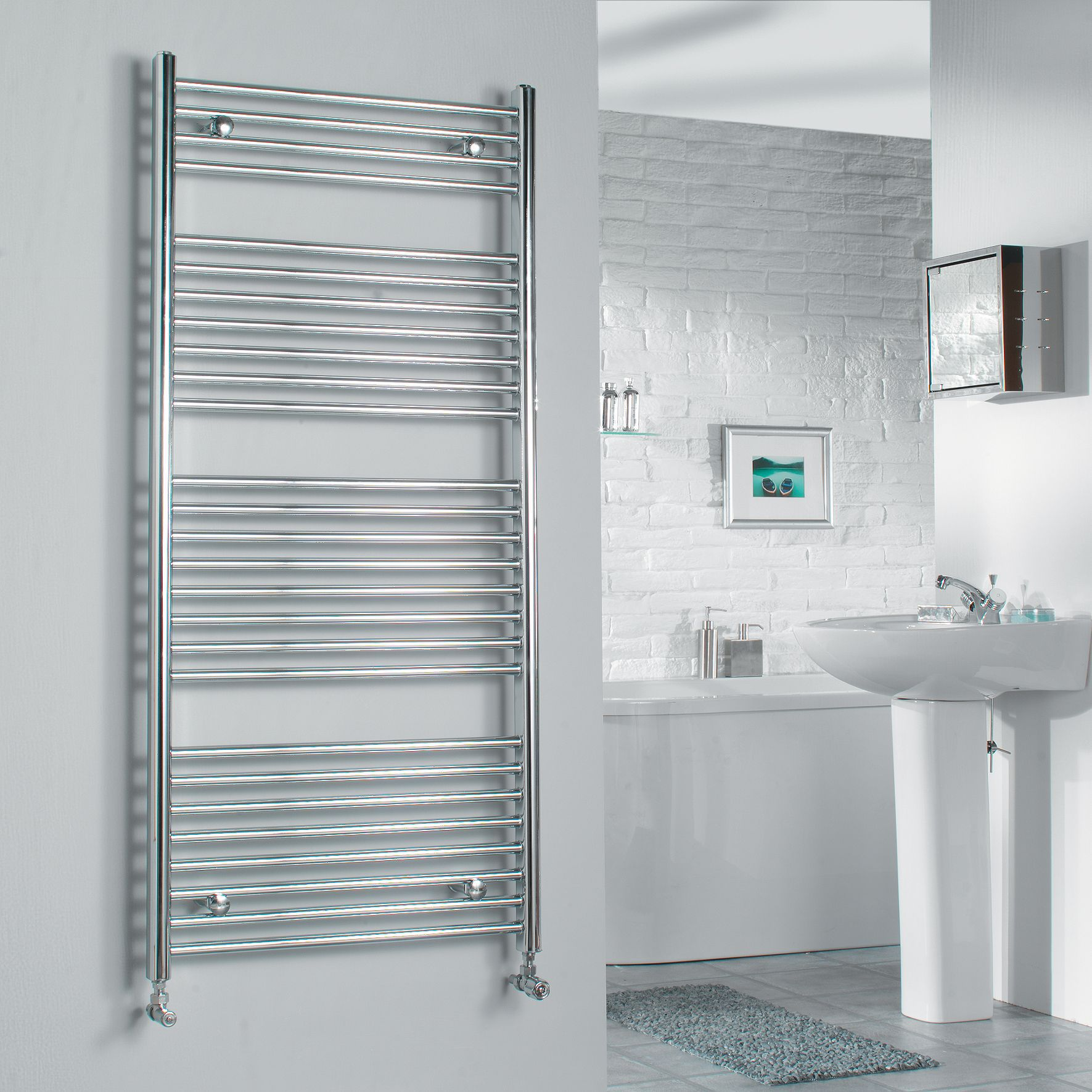 Electric towel rails for bathrooms b q bathroom design ideas for Electric heated towel rails for bathrooms