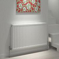 Kudox Type 21 double plus Panel radiator White, (H)500mm (W)700mm