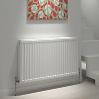 Kudox Type 21 double plus Panel radiator White, (H)500mm (W)1200mm