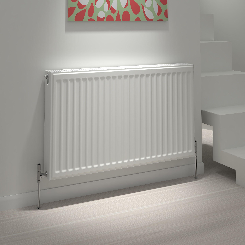 Kudox Type 21 double plus Panel radiator White,