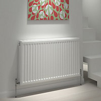 Kudox Type 22 double Panel radiator White, (H)600mm (W)500mm