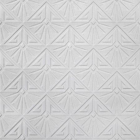 Retford Anaglypta Luxury Vinyl White Art Deco Paintable