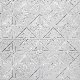 Retford Anaglypta Luxury Vinyl White Art Deco Textured