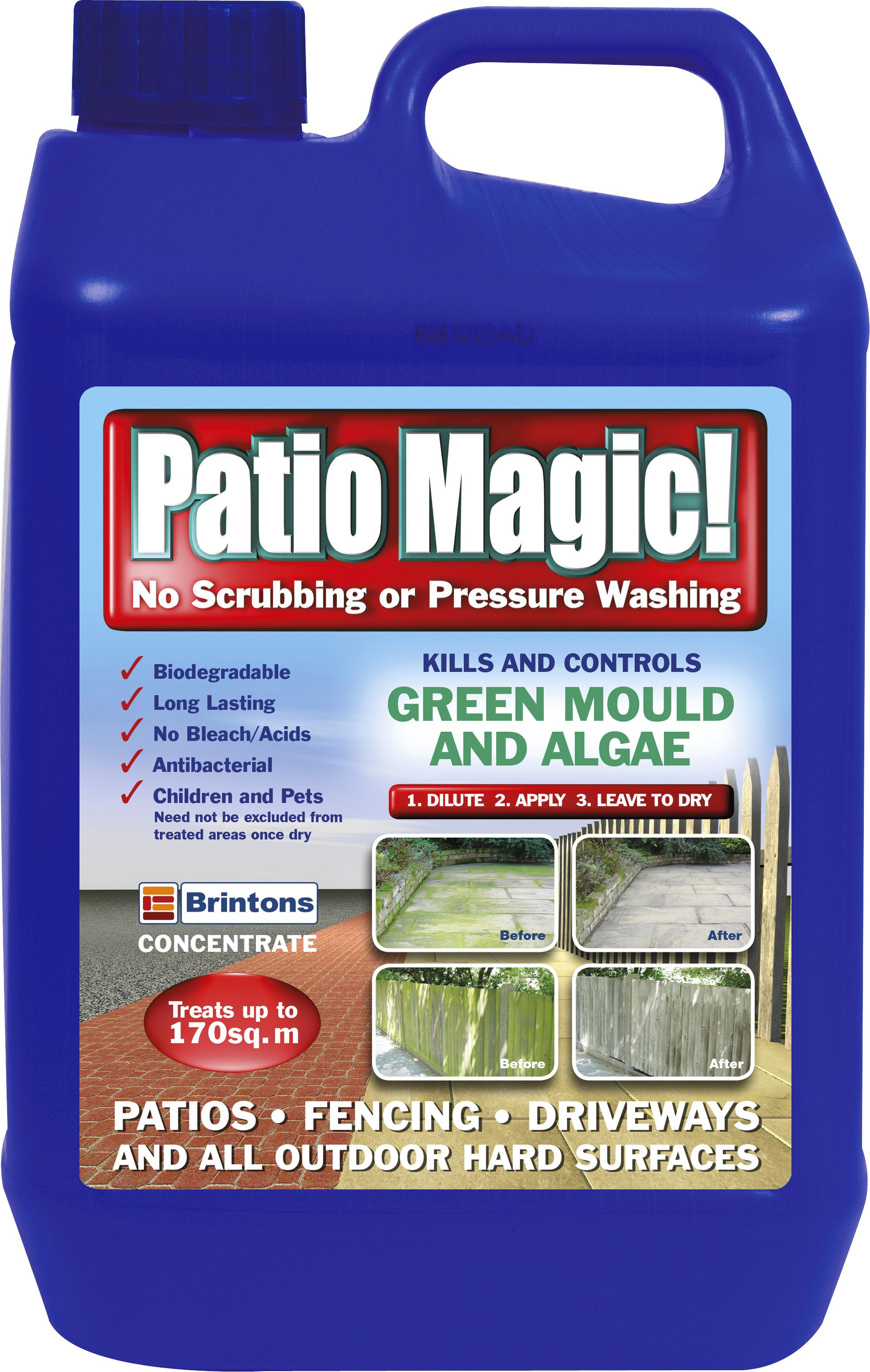 Brintons Patio Magic Concentrate Patio & driveway cleaner 5L | Departments  | DIY at B&Q