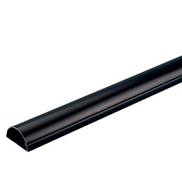 D-Line Black Self Adhesive Trunking, Set