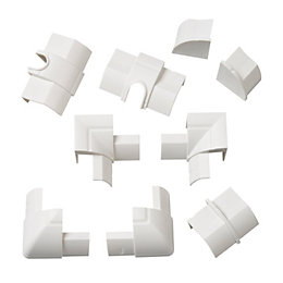 D-Line ABS Plastic White Value Pack (W)22mm, Pack