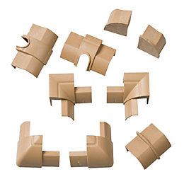 D-Line ABS Plastic Wood-Effect Value Pack (W)22mm, Pack