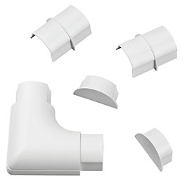 D-Line ABS Plastic White Maxi Trunking Accessories (W)60mm