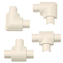D-Line ABS Plastic Magnolia Mini Trunking Accessories (W)30mm