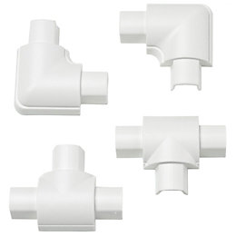 D-Line Plastic White Micro Trunking Equal Tee &