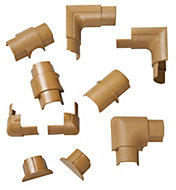 D-Line ABS plastic Wood-effect Trunking accessories (W)30mm