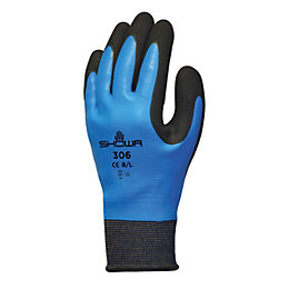 Showa Water Resistant Full Finger Gloves, Large, Pair