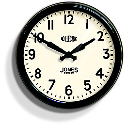 Apollo Retro Black Wall Clock