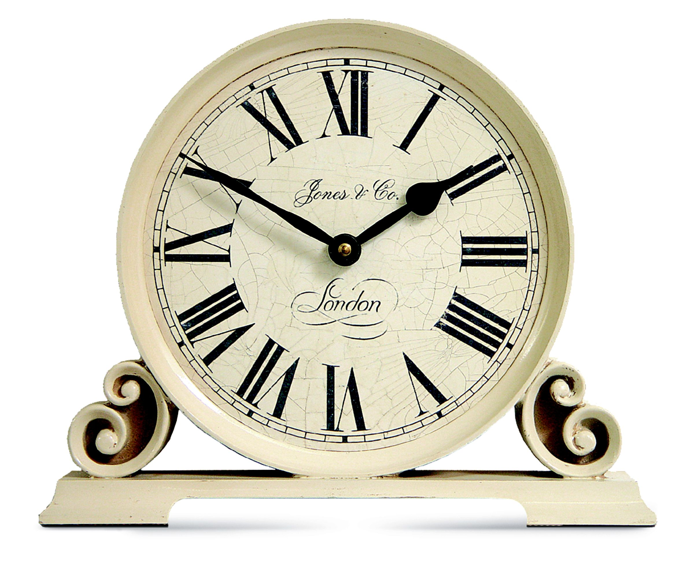Jones Worcester Traditional Cream Mantel Clock