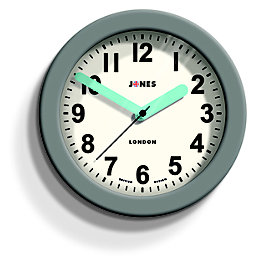Jones Fab Contemporary Grey Wall Clock