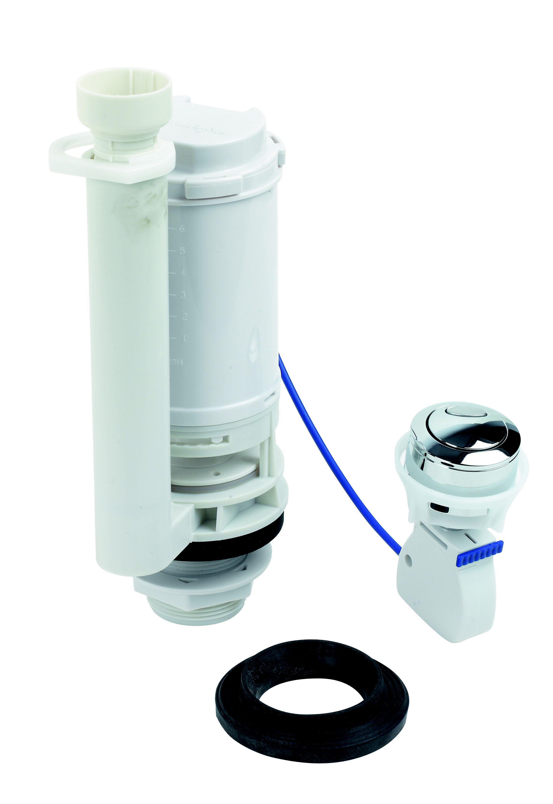 push button toilet cistern parts. Fluidmaster Dual Flush Push Button Cable Valve  Departments DIY at B Q
