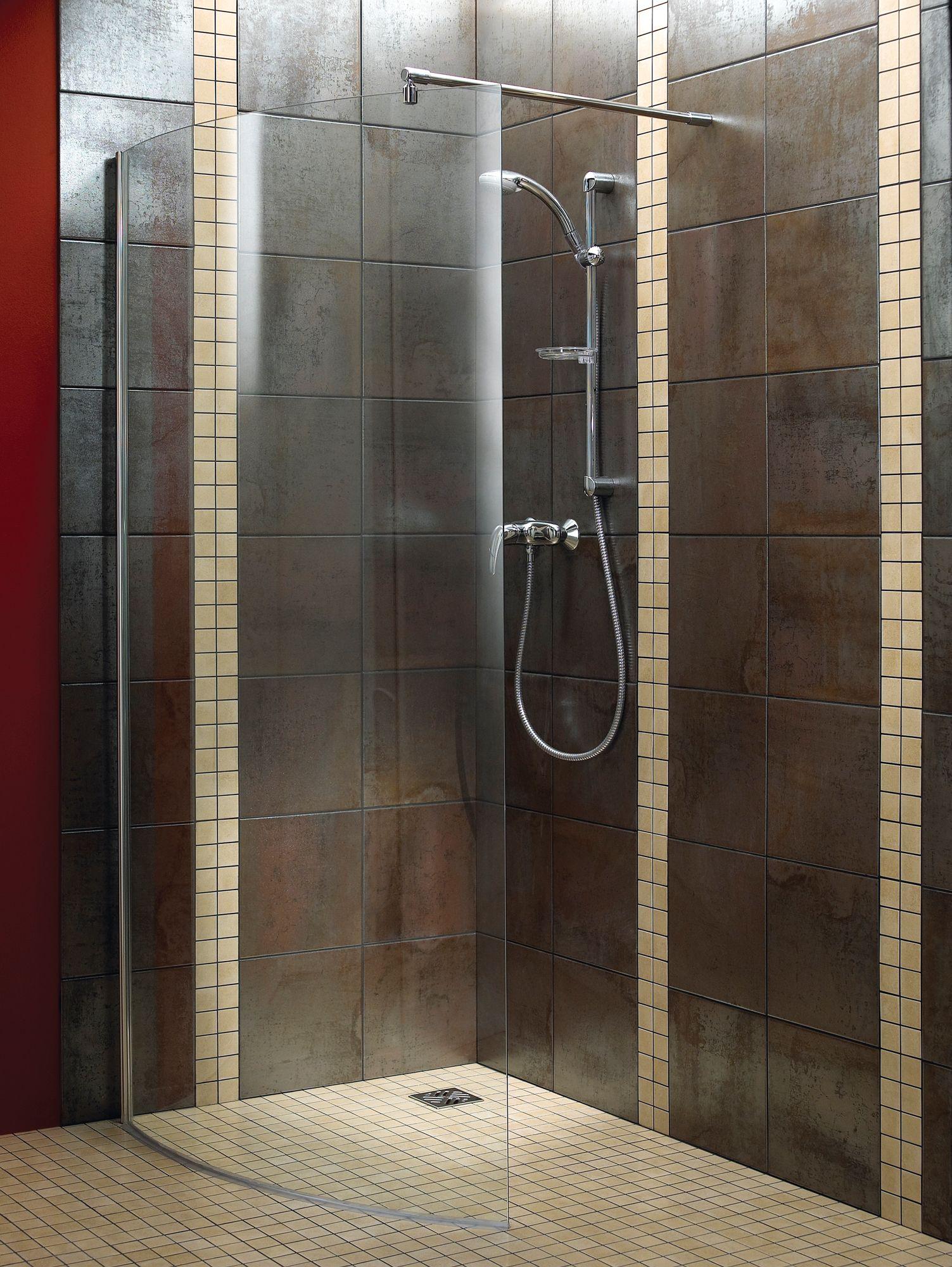 Aquadry Walk-In Shower Screen (W)1050mm