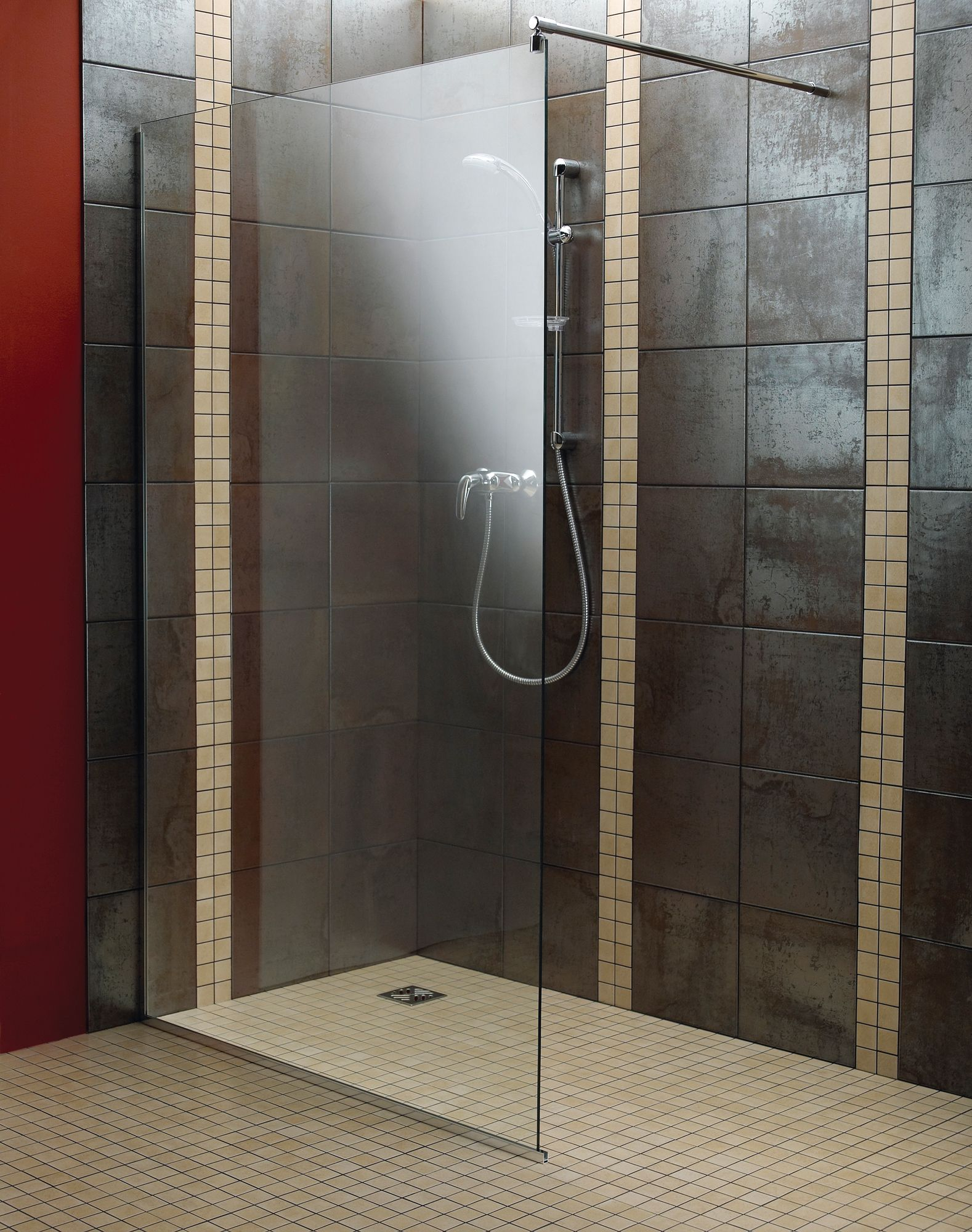 Aquadry Walk-In Shower Screen (W)1200mm