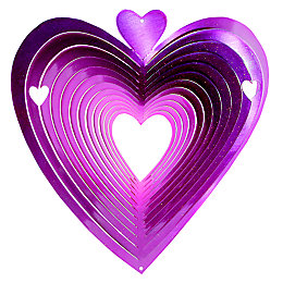 Active Pink Heart Wind Spinner