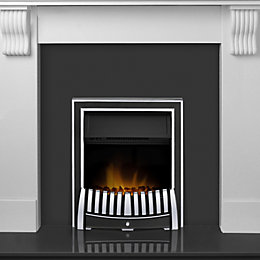 Adam Black & white LED lighting Electric fire